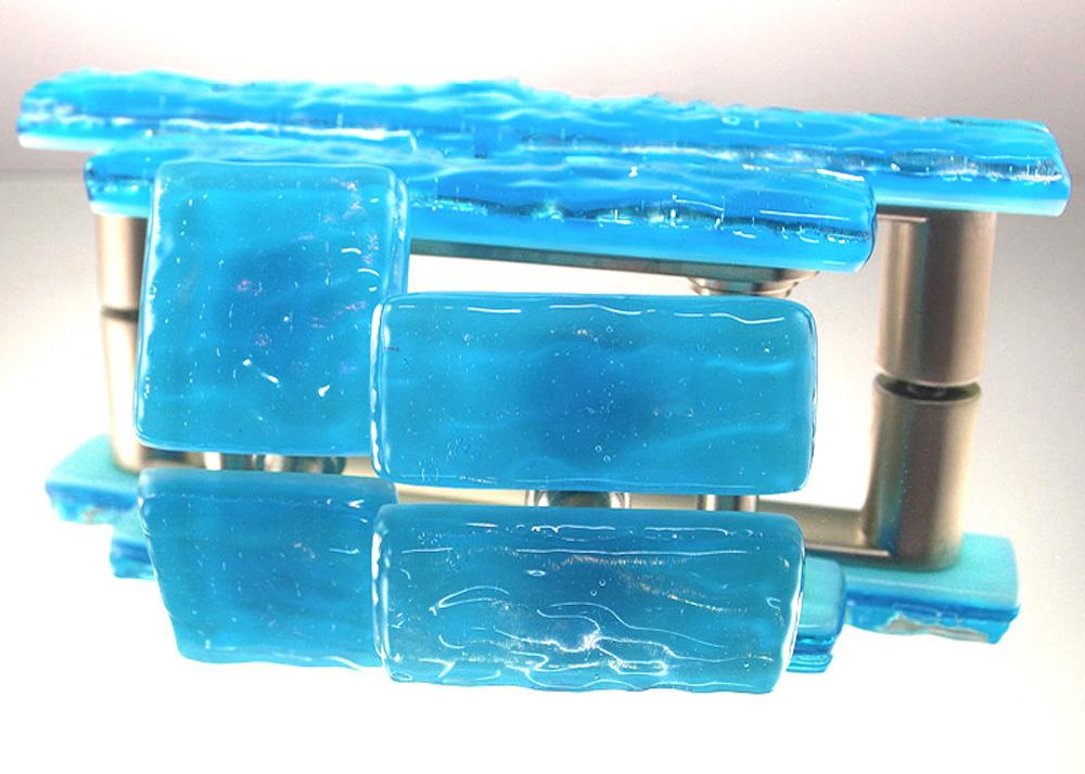 Blue Topaz Handmade Glass Cabinet Hardware