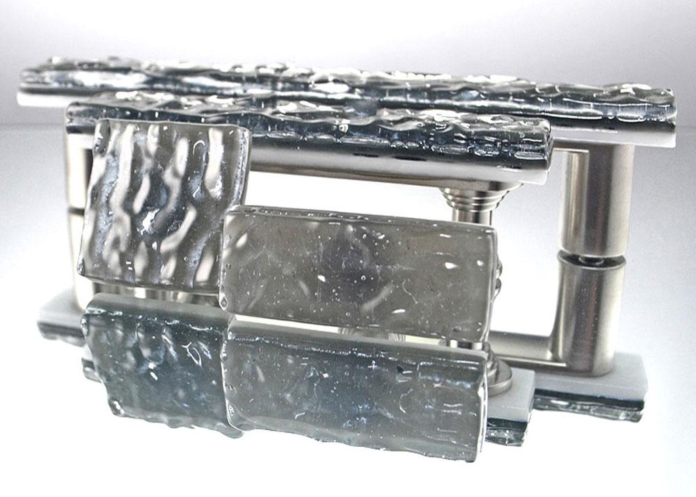 Silver Handmade Glass Cabinet Hardware
