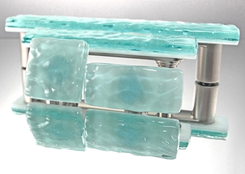 Aqua Mist Handmade Glass Knob and Pull Cabinet Hardware