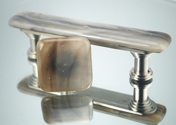 Driftwood Handmade Glass Cabinet Hardware glass knobs, glass pulls, cabinet hardware