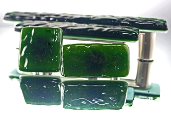 Emerald Handmade Glass Knob and Pull Cabinet Hardware