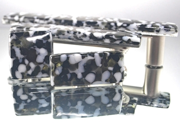 Glass Noir Handmade Glass Knob and Pull Cabinet Hardware