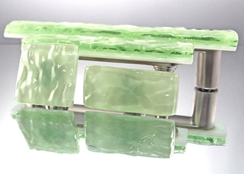Green Mist Handmade Glass Knob and Pull Cabinet Hardware