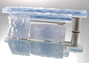 Indigo Mist Handmade Glass Knob and Pull Cabinet Hardware