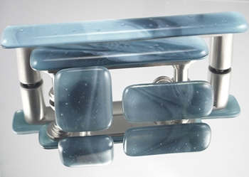 Marine Handmade Glass Knob and Pull Cabinet Hardware glass knobs, glass pulls, cabinet hardware