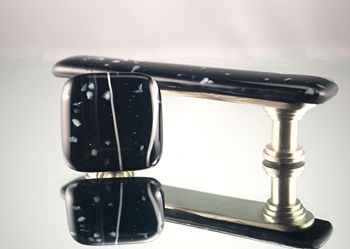 Midnight Handmade Glass Cabinet Hardware