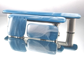Steel Blue Sky Handmade Glass Cabinet Hardware