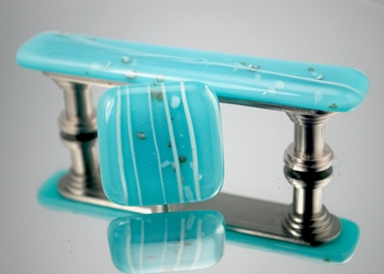 Turquoise Handmade Glass Cabinet Hardware glass knob and pulls