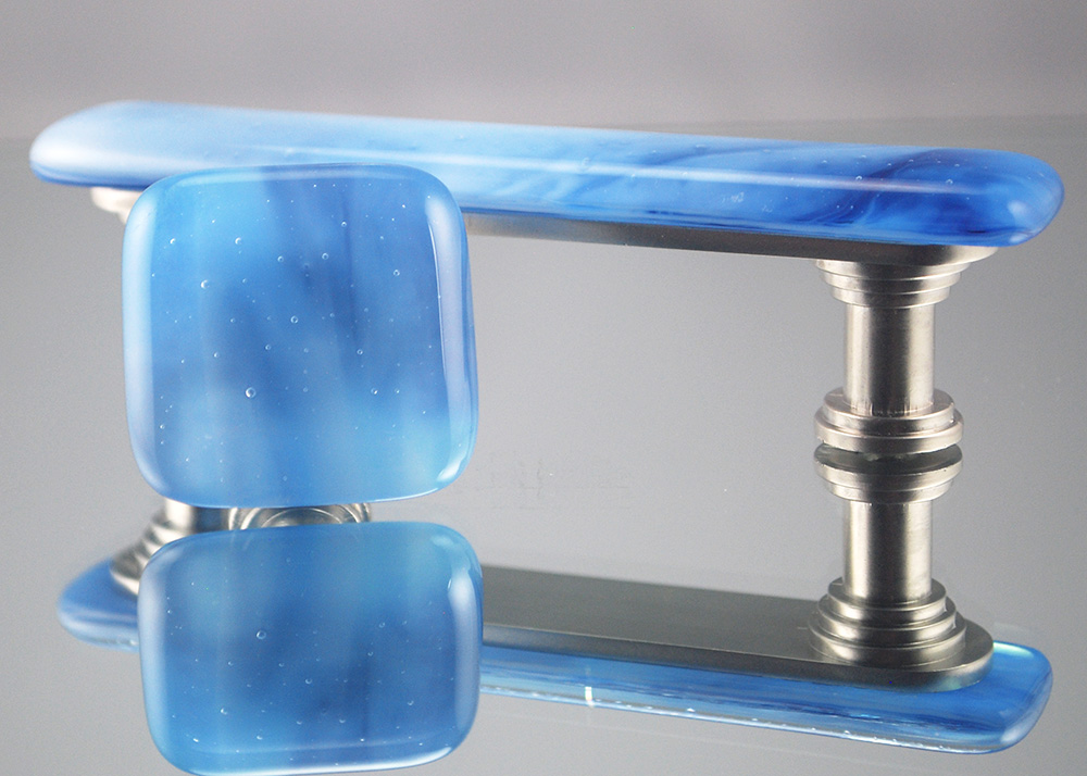 Water fused glass knobs and pulls